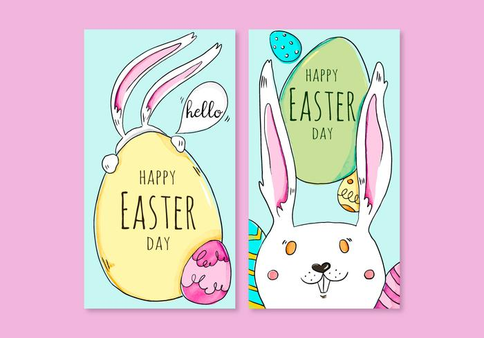Easter's Day Card Vectors