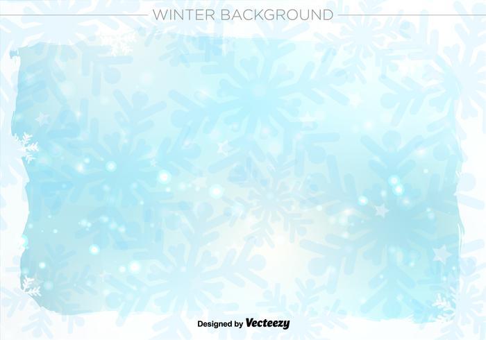 Winter achtergrond vector illustratie