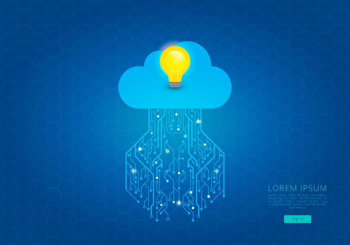 Tecnologia Cloud Computing Idea Template