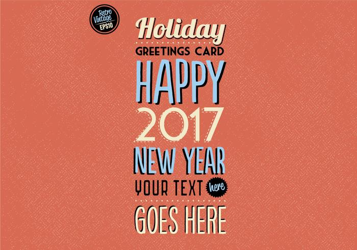 Colorful Holiday Greetings Card Vector