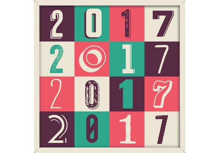 2017 Retro Pattern Vector