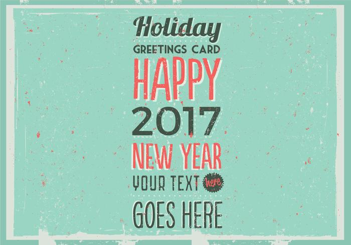 Retro Holiday Card Vector
