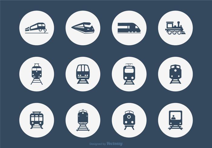 Twelve Railroad Vector Icons