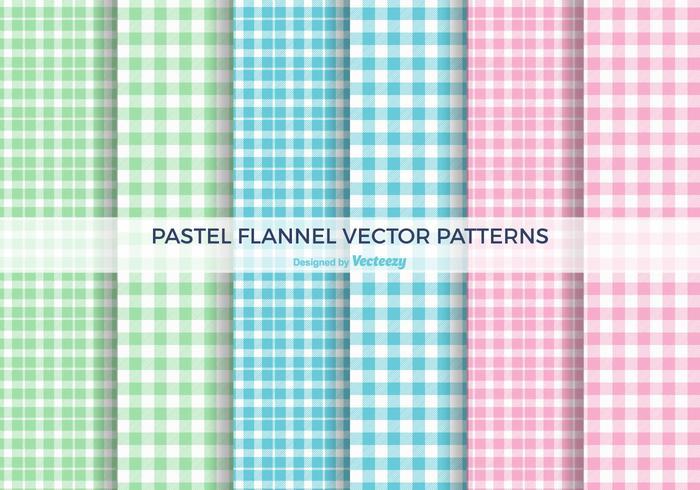 Pastel Flannel Vector Patterns
