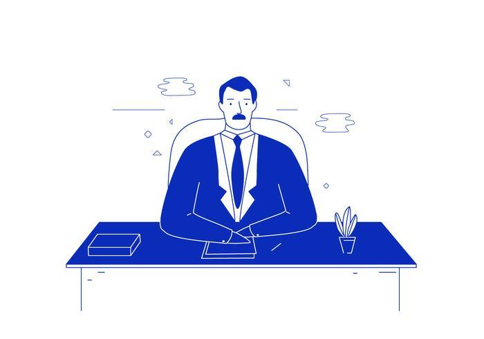 El hombre de negocios Ilustración