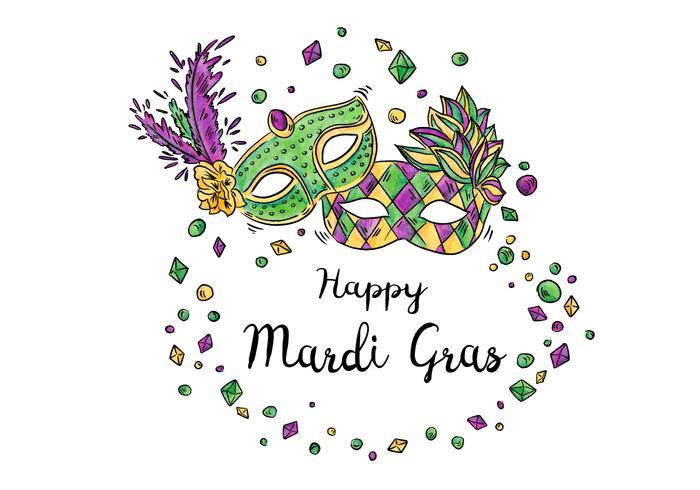 Happy Mardi Gras Festival Design Vector