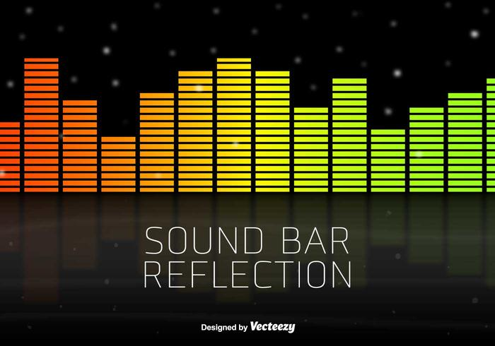 Neon Vector Sound Bars Background