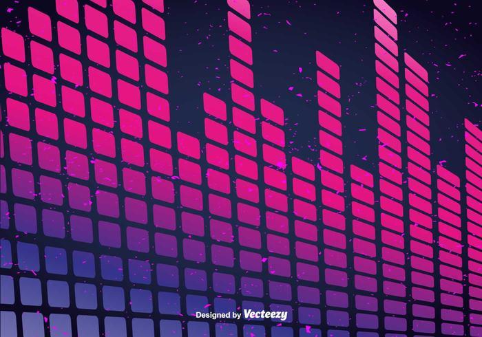 Vector Pink Sound Bars Background