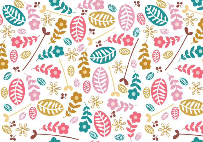 simple floral illustrator pattern download free vector