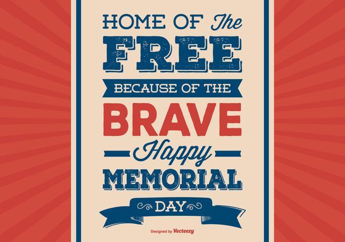 Ilustração retro do Dia do Memorial Day