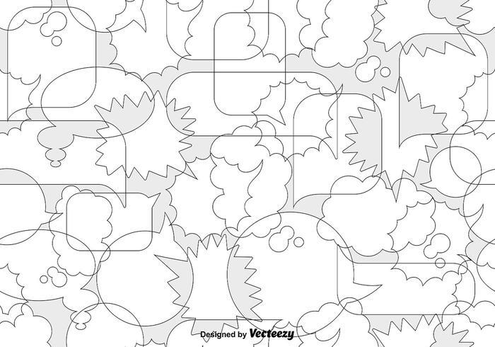 Vector Speech Bubbles Seamless Pattern