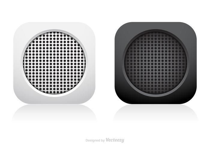 Sammanfattning Speaker App Icon Vector Set