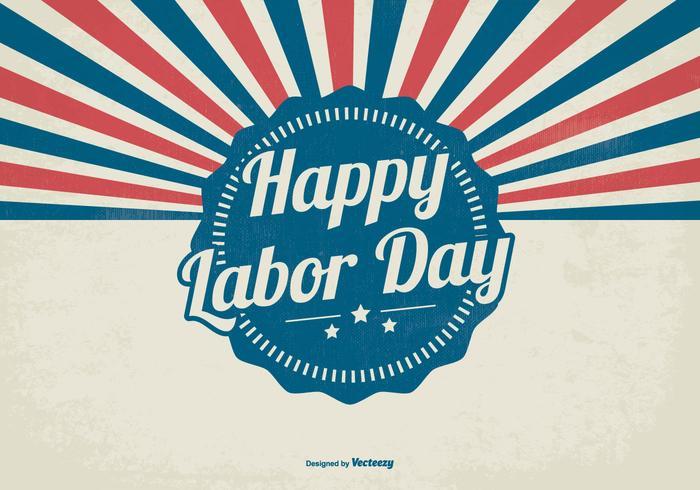 Retro Sunburst Labor Day Style Background