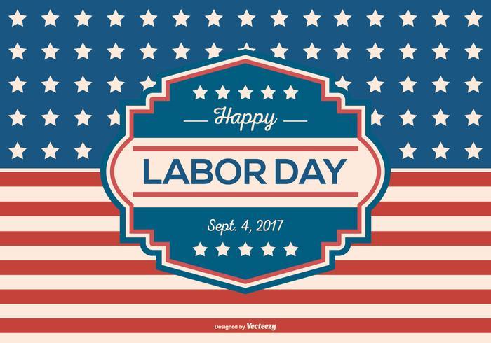 Retro Labor Day Background Vector