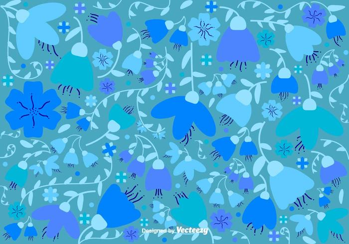 Vector Hand Drawn Flower Background