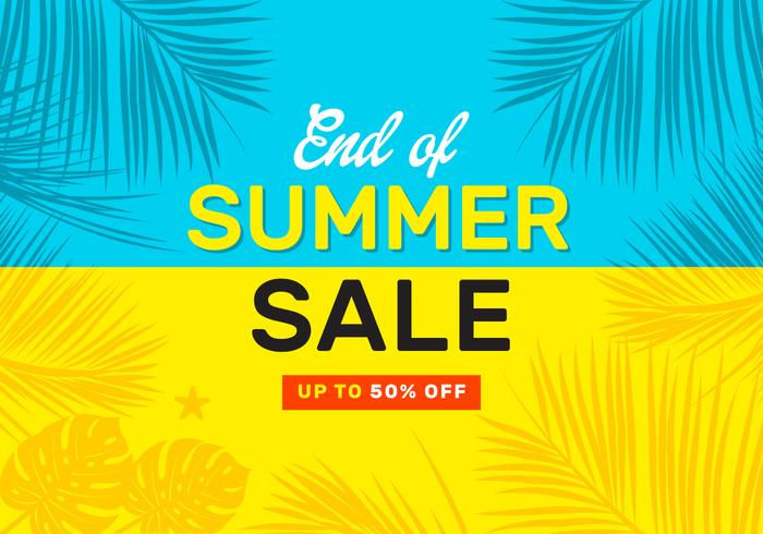 End Of Summer Sale Vector Poster