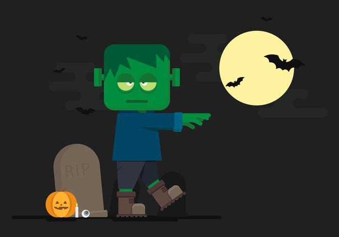 Halloween Frankenstein Vector