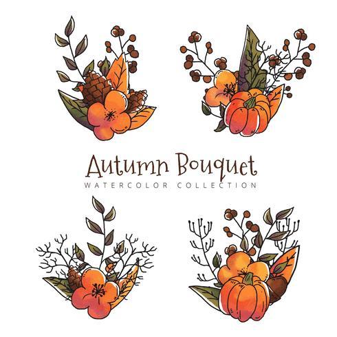 Collection de feuilles d'automne à la saison d'automne