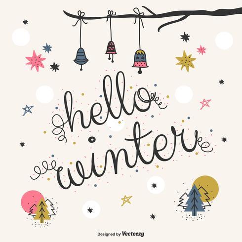 Hello Winter Vector