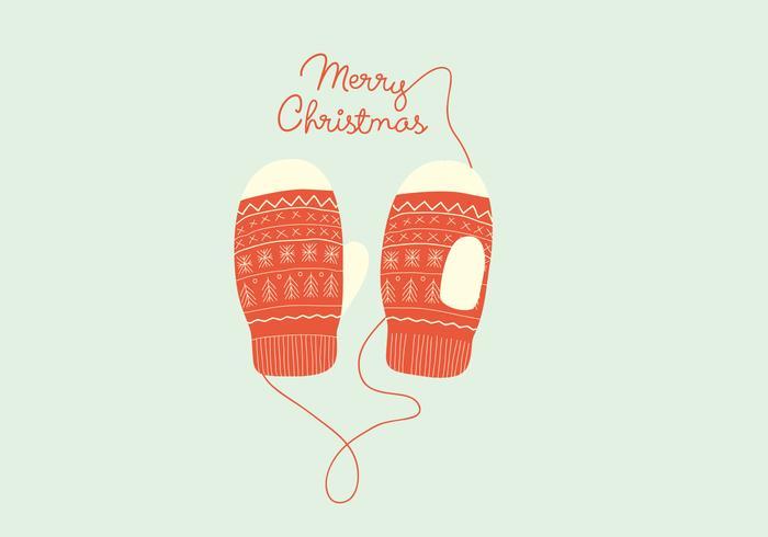 Christmas Gloves Illustration
