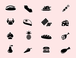 Food Icon Vector Pack