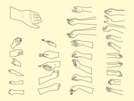 Vector Hand Positions