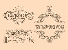 Retro Wedding Vectors