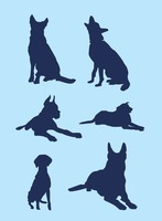 Big Dog Silhouette Vectors
