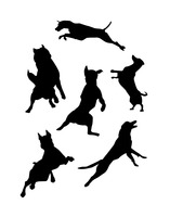 Free Jumping Dog Silhouette Vectors