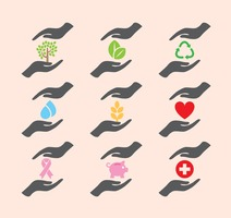 Helping Hands Icons
