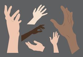 Hand Reaching Vectors
