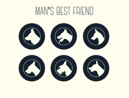 Free Vector Dog Silhouettes