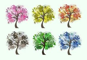 Decorative Seasonal Tree Vectors