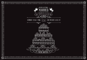 Free Wedding Cake With Roses Vector