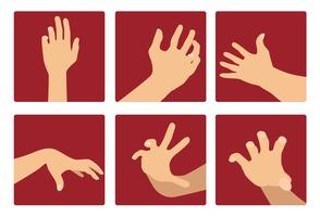 Hand reaching vector