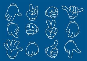 Cartoon Line Hands