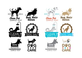 Dog Wash Logo Vectors