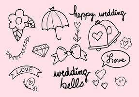 Wedding Bells Hand Drawn Vector Set