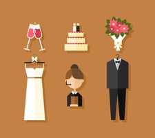 Vector Wedding Icons