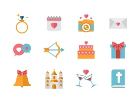 Free Wedding Icons Vector.