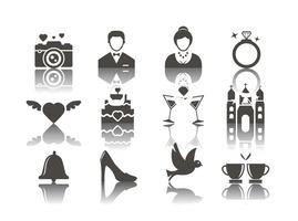 Free Wedding Icons Vector