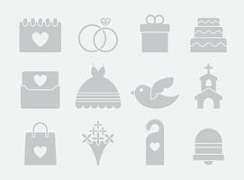 Gray Wedding Icons