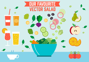 Free Salad Vector Illustration