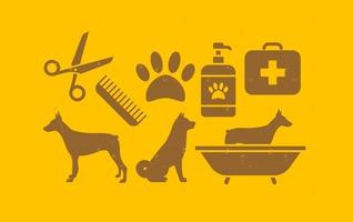 Pet Dog Icons Set