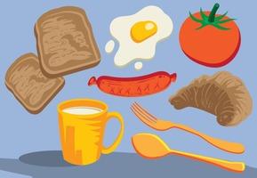 Breakfast Icons Foods