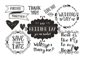 Hand Drawn Wedding Doodles