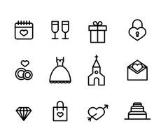 Set of Wedding Icons