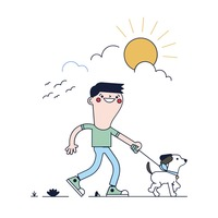Free Dog Walk Vector