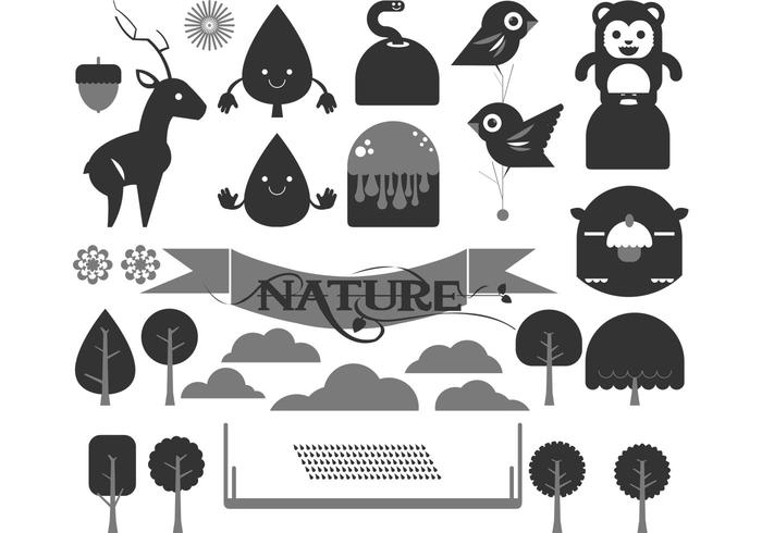 Happy Forest Vector Pack