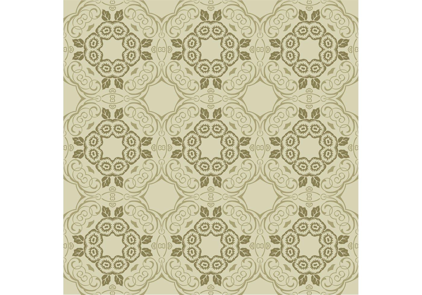 Green Floral Wallpaper